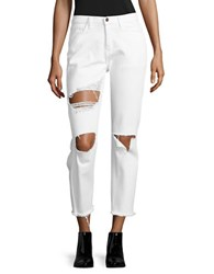 Flying Monkey Destroyed White Wash Denim Optic White