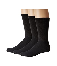 Thorlos Uniform Crew 3 Pair Pack Black Crew Cut Socks Shoes