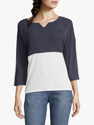 Betty And Co. Two Tone Top Blue White