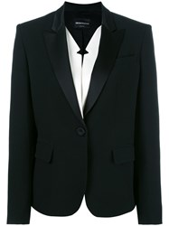 Emporio Armani One Button Blazer Black