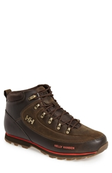 Helly Hansen 'The Forester' Water Repellent Leather Boot Men Espresso Tabasco Gold