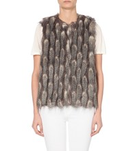 French Connection Danny Faux Fur Gilet Grey