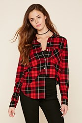 Forever 21 Plaid Collared Shirt