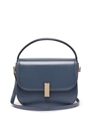 Valextra Iside Cross Body Leather Bag Blue