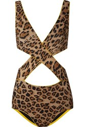 Karla Colletto Elle Wrap Effect Cutout Leopard Print Underwired Swimsuit Leopard Print