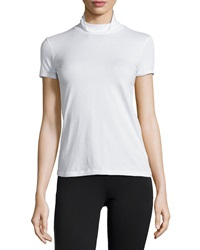 Theory Elisabeth Ss 2 Stay Mock Neck Tee White