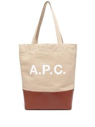 A.P.C. Axel Canvas And Leather Tote Bag Beige