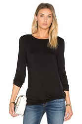 Heather Twist Front Top Black