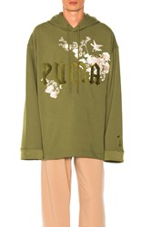 Fenty By Puma Graphic Embroidered Hoody Green