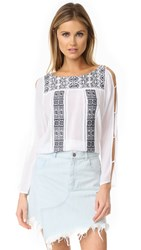 Ondademar Embroidered Shirt Fressia