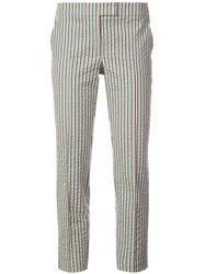 Akris Punto Striped Fitted Trousers Multicolour