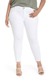 Liverpool Plus Size Women's Jeans Company Penny Ankle Skinny Jeans Bright White