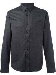 Ami Alexandre Mattiussi Button Down Collar Shirt Grey