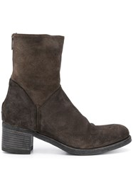 Pantanetti Zip Up Boots Brown