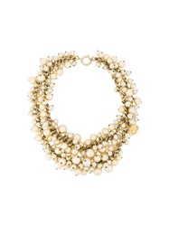 Chanel Vintage Layered Pearl Necklace Metallic