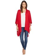Echo Design Everyday Luxe Ruana American Red Short Sleeve Pullover Pink