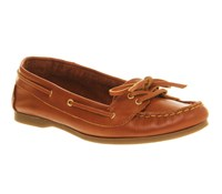 Office Marina Lace Boat Shoes Tan