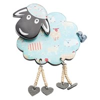 One Button Dangle Legs Resin Sheep Brooch Teal