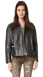 Iro Milton Leather Jacket Black