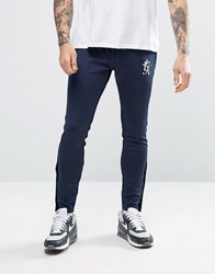 Gym King Joggers In Skinny Fit Navy