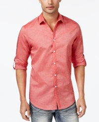 Inc International Concepts Men's Roll Tab Chambray Shirt Only At Macy's Coral