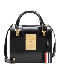 Thom Browne Mrs Thom Mini Leather Tote Black