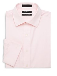 Saks Fifth Avenue Slim Fit Solid Button Down Dress Shirt Pink