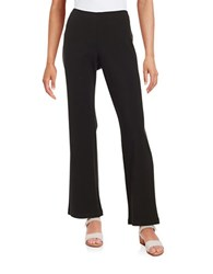 Eileen Fisher Straight Leg Ponte Stretch Pants Black
