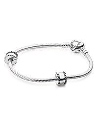 Pandora Design Pandora Iconic Heart Bracelet Gift Set Moments Collection Silver