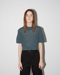 Rachel Comey Cropped Sweater Tee Blue