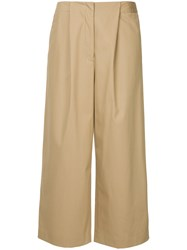 Des Pres High Waist Culottes Nude And Neutrals