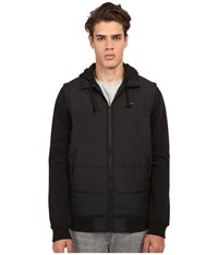 Rvca Puffer Zips Jacket Black Men's Coat