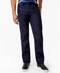 Sean John Double Faced Relaxed Fit Jeans Raw Blue