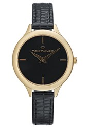 Tom Tailor Watch Goldfarben Schwarz