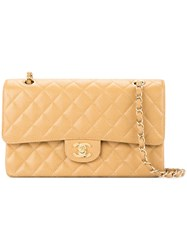 Chanel Vintage Double Flap Shoulder Bag Nude And Neutrals