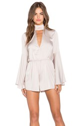 Oh My Love You Really Got Me Romper Taupe