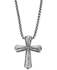 Scott Kay Men's Textured Pendant Necklace In Sterling Silver