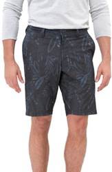 7 Diamonds Men's Hybrid Shorts Charcoal Palm