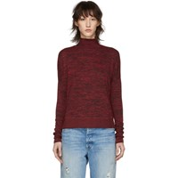 Rag And Bone Red Bowery Turtleneck