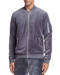 The Narrows Velour Bomber Jacket 100 Exclusive Charcoal Gray