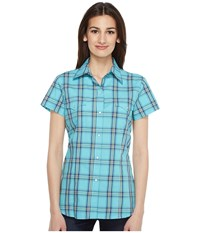 Roper 0831 Sea Ombre Plaid Blue Women's Clothing