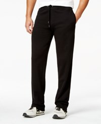 Armani Jeans Solid Color Drawstring Sweatpants Solid Black