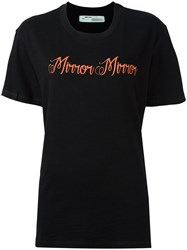 Off White 'Mirror Mirror' Print T Shirt Black