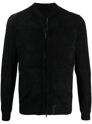 Salvatore Santoro Fitted Suede Bomber Jacket 60