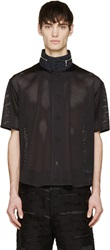 Phenomenon Black Field Collar Baseball Shirt