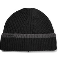 Saturdays Surf Nyc 2 X 2 Ribbed Wool Beanie Black