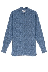 Paul And Joe Moon Print Ls Silk Blouse