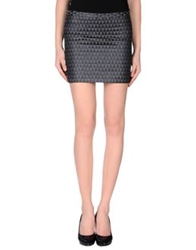 Mauro Grifoni Mini Skirts Steel Grey