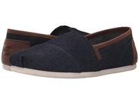 Toms Seasonal Classics Dark Denim 2 Men's Slip On Shoes Black