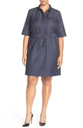 Plus Size Women's Halogen Belted Denim Shirtdress